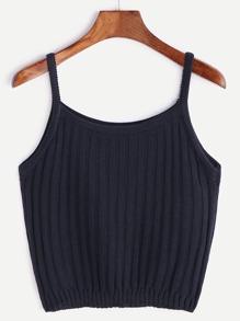 bleu foncé tricote lanières