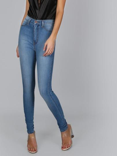 High Waist Medium Wash Jeans MEDIUM STONE