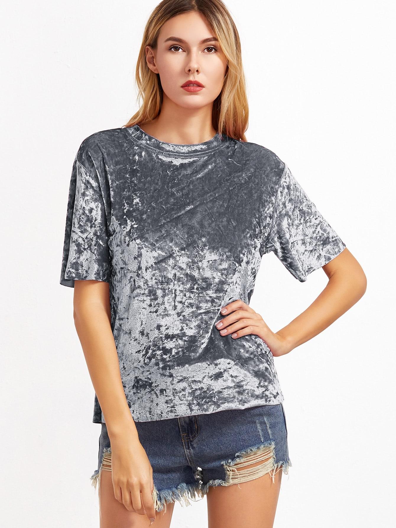 Crushed Velvet T-shirt