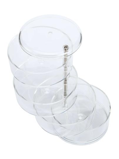 Bote de maquillaje transparente