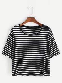 chemise à rayures - blanc noir