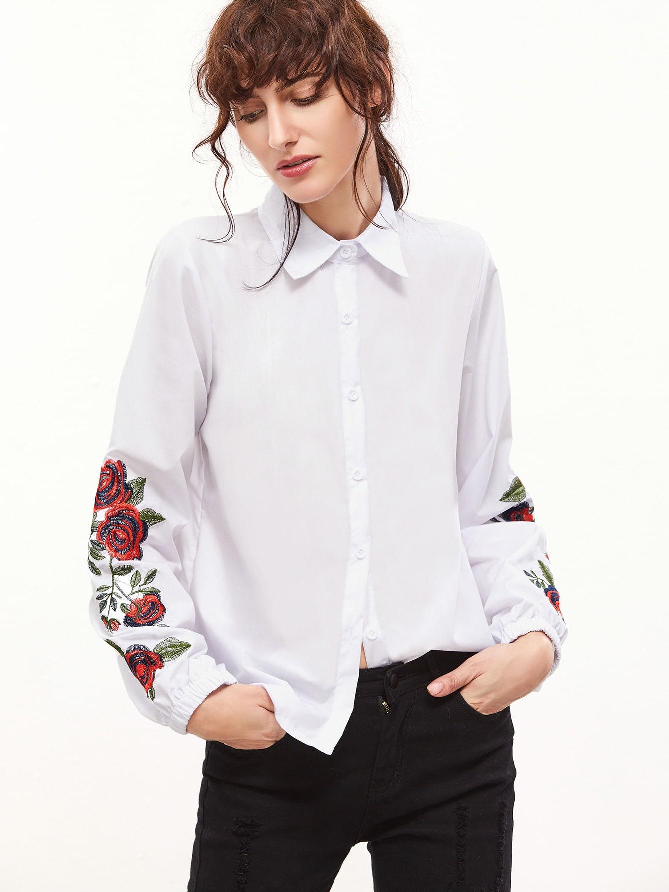 Белые рубашки женские с вышивкой фото