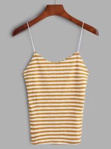 Camisole en tricot à rayures