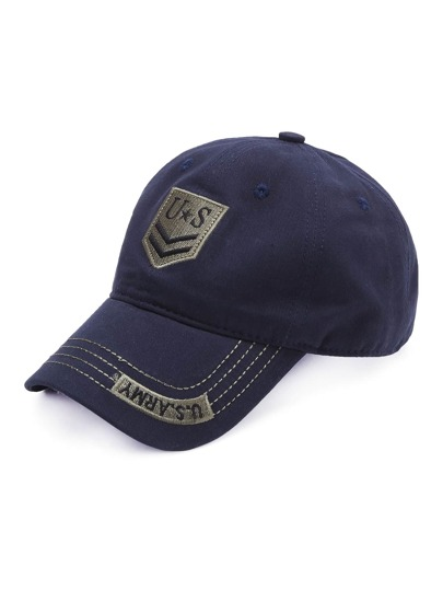 Blue Letter Embroidery Baseball Cap