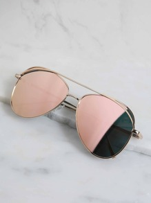 Pastel Mirror Sunglasses BLUSH