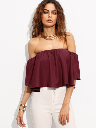 Off Shoulder Top -SheIn(Sheinside)