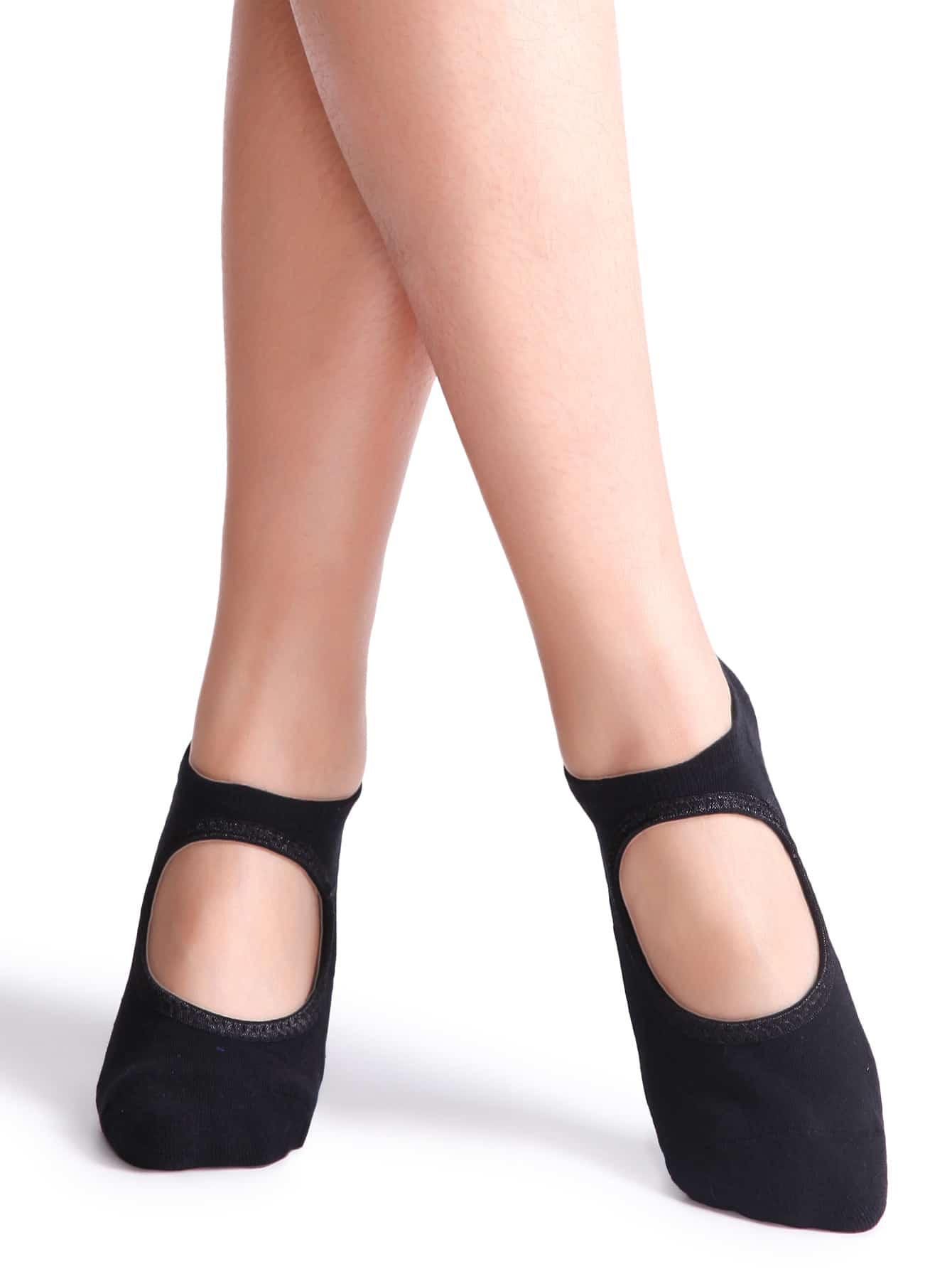 Black Non Slip Ballet Socks