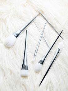 7pcs silver maquillage pinceaux ensemble