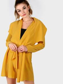 Waterfall Collar Wrap Coat