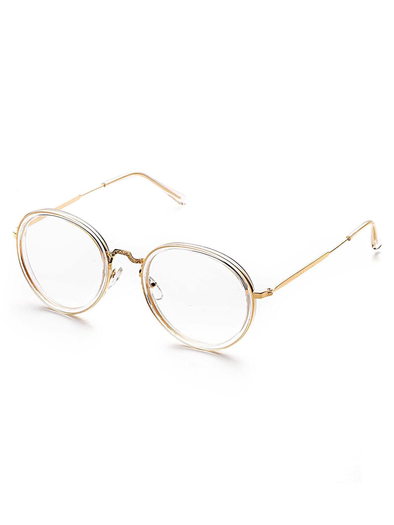 Фото Clear Frame Round Design Sunglasses. Купить с доставкой
