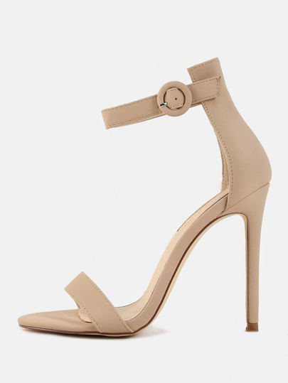 Duo Strap Single Sole Heels NUDE
