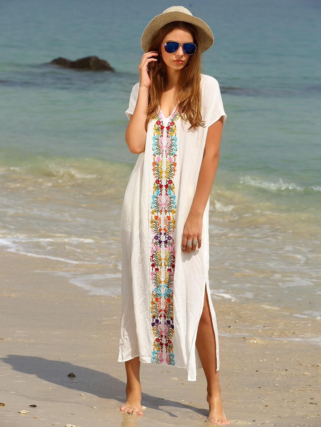 Фото Placement Print Split Side Maxi Dress. Купить с доставкой
