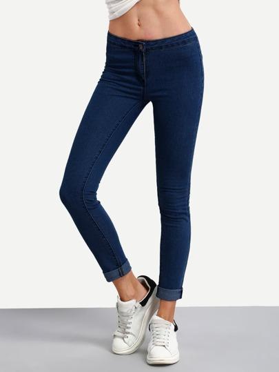 Bas jeans skinny - Marine