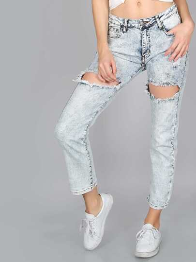 Super Distressed Acid Wash Jeans ACID WASH