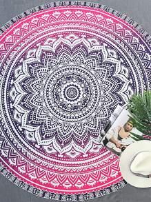 Tribal Print Round Beach Blanket