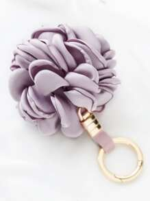 Purple Flower Shape Cute Keychain
