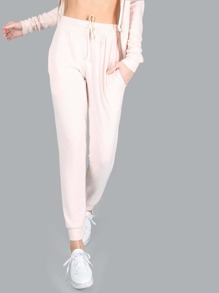 Pastel Knitted Joggers APRICOT