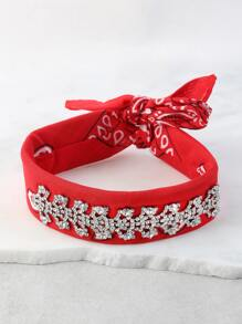 Crystal Neckerchief RED