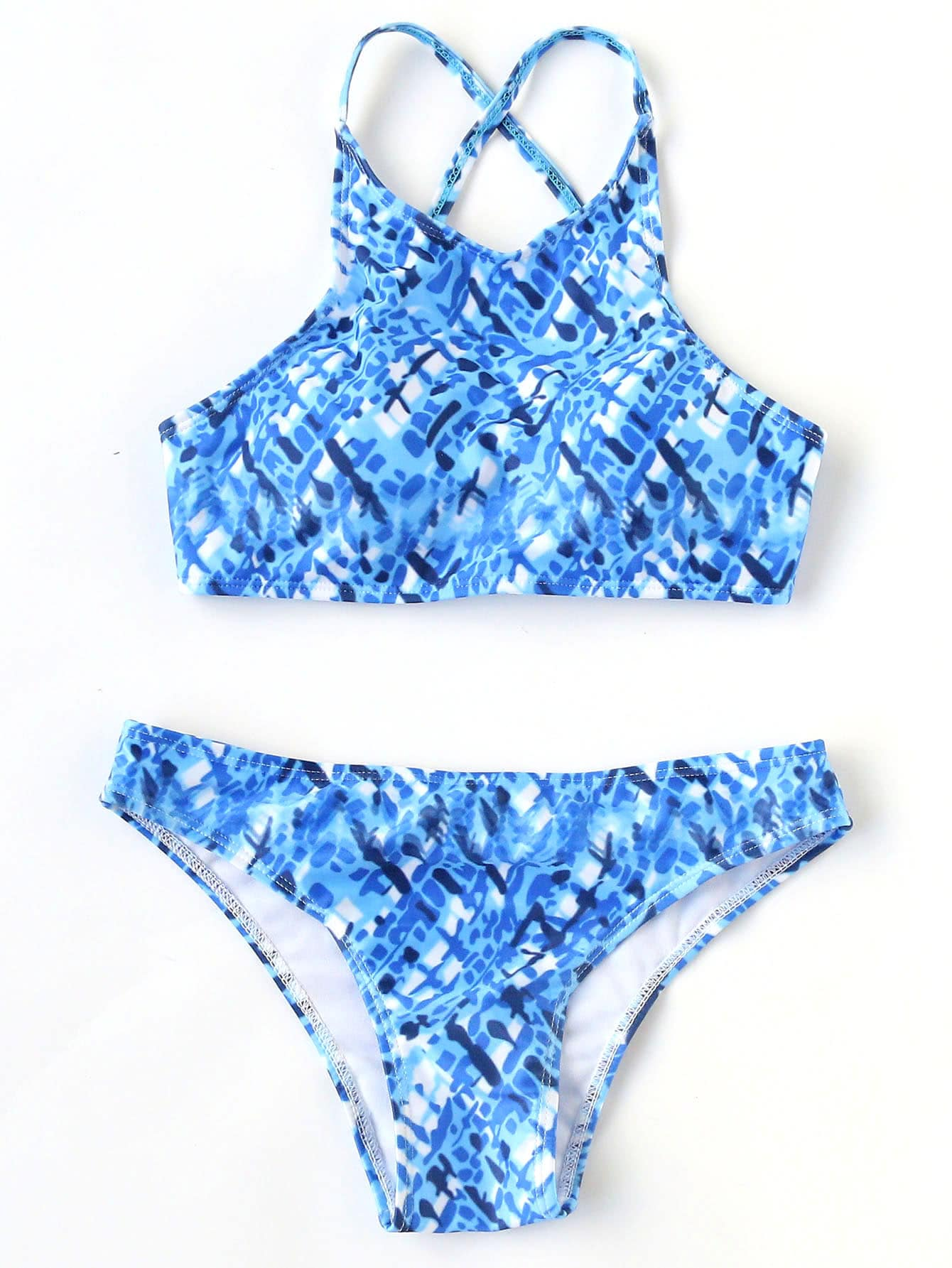 Фото Printed Cross Back Bikini Set. Купить с доставкой