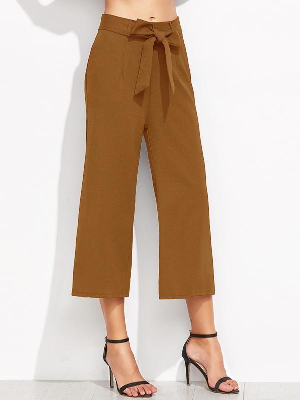 Self Tie Waist Wide Leg Pants, Camila