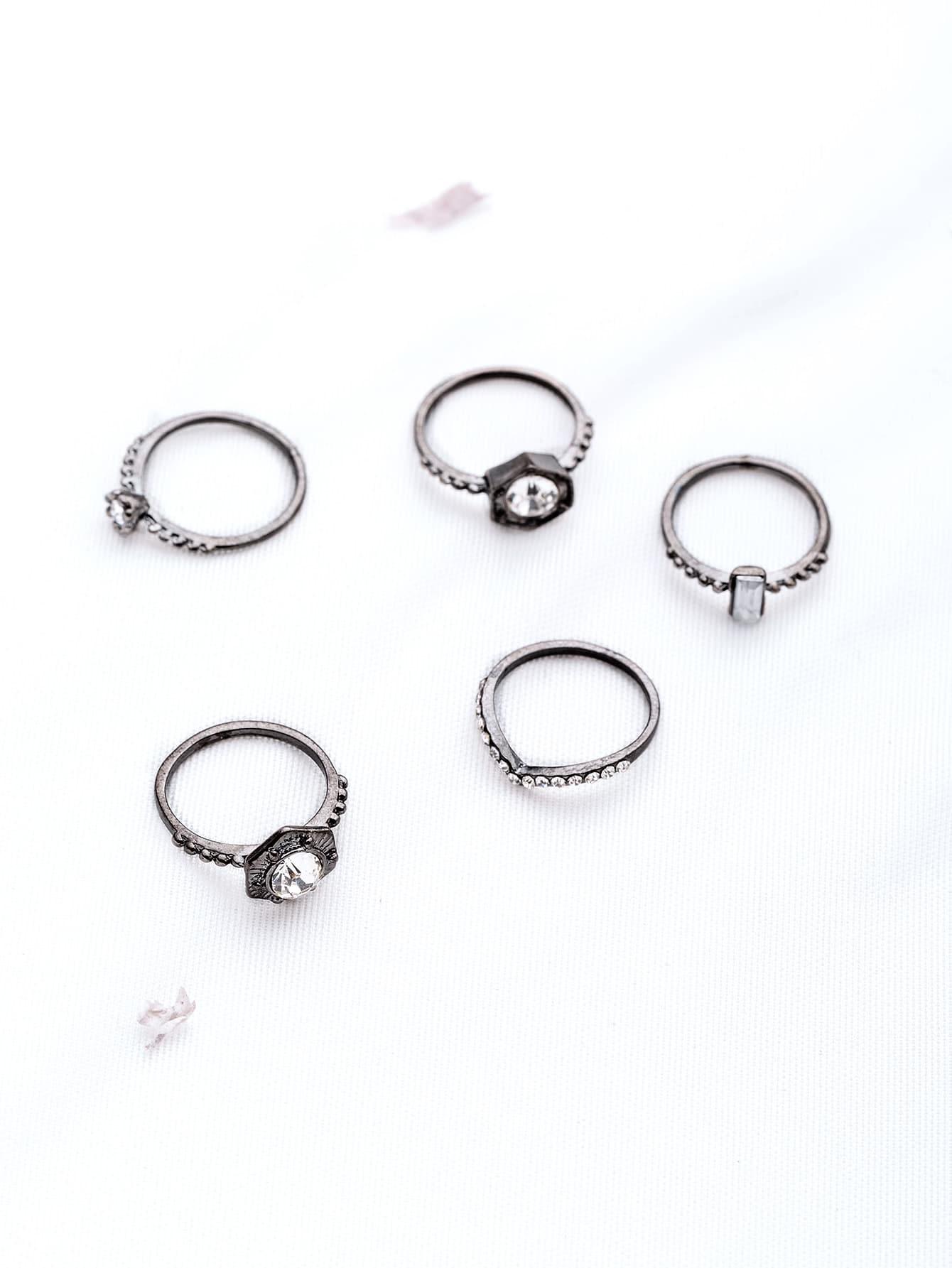 Фото Rhinestone Design Punk Ring Set. Купить с доставкой