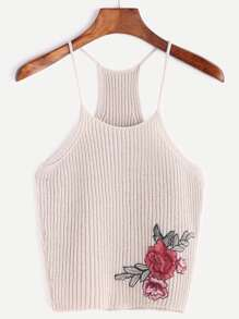 Rose Patch Racerback Cami Top