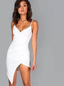 Ruched A-Line Dress IVORY
