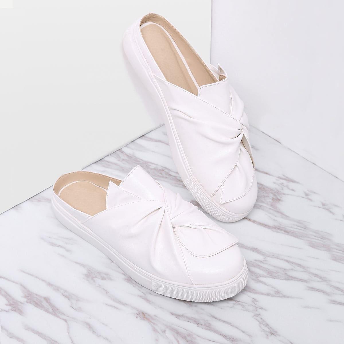 Sneakers met open hiel