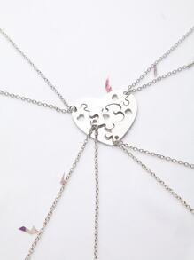 silver heart vider collier