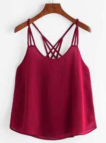 Lattice Back Cami Top