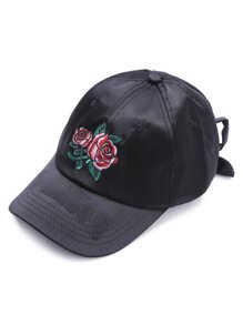 Ricamo Berretto da baseball Black Rose