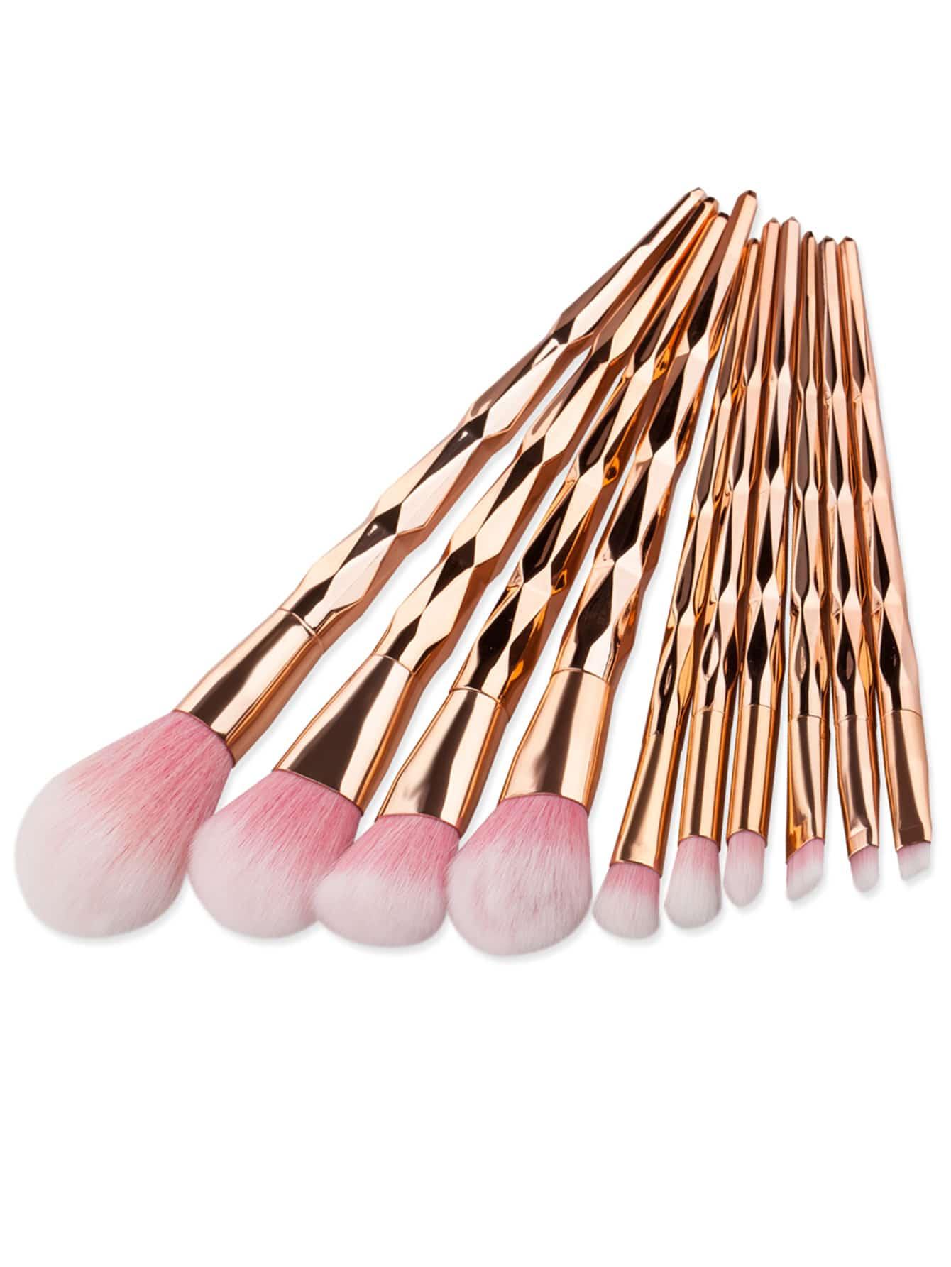 Фото Gold Diamond Textured Makeup Brush Set. Купить с доставкой