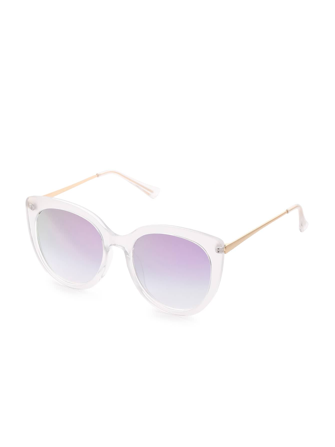 Фото Clear Frame Cat Eye Sunglasses. Купить с доставкой