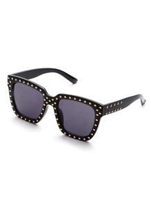 Black Frame Square Design Sunglasses