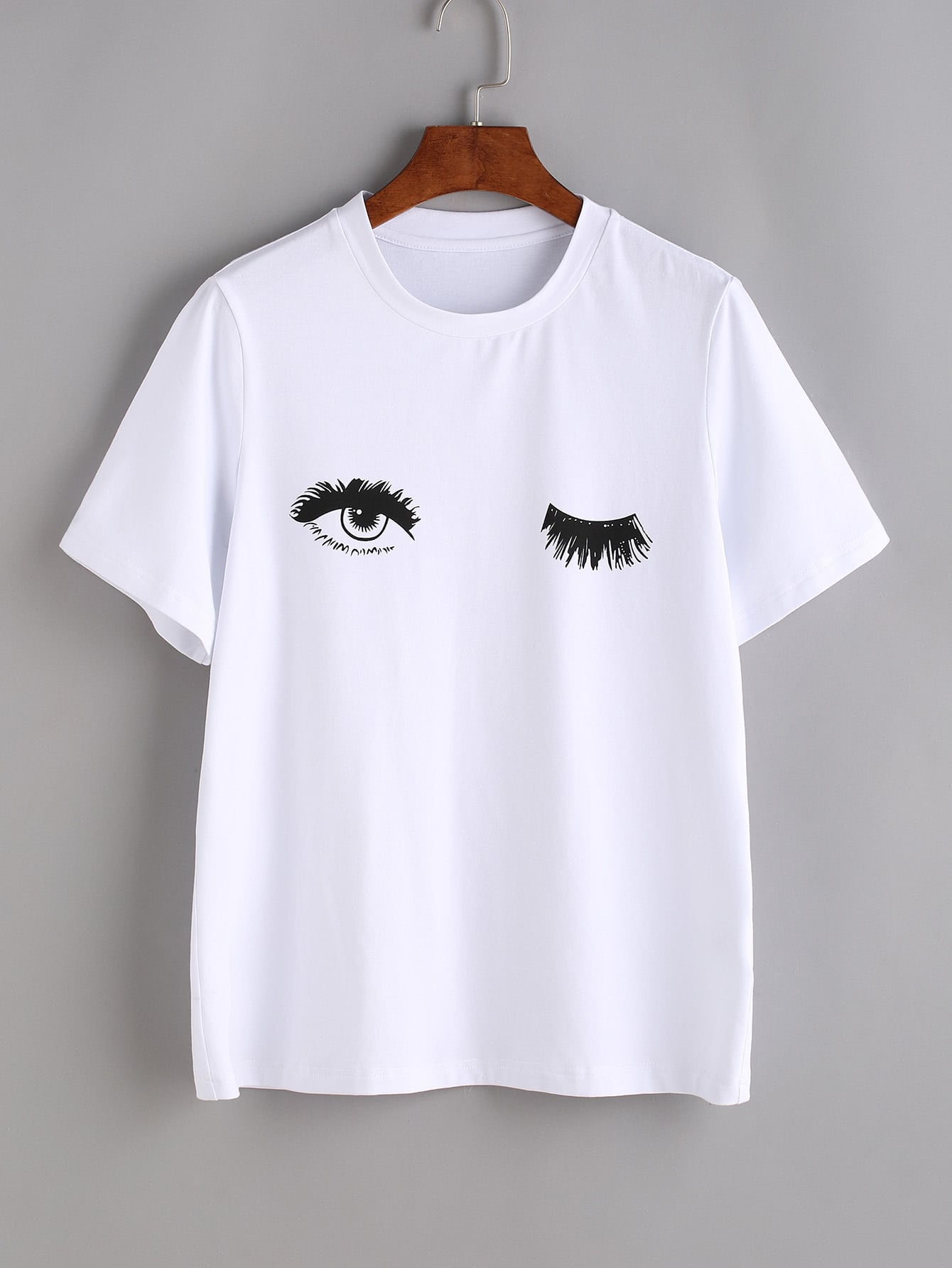 Wink Eyes Print Tee alabasta cute blinking wink glitter eyes
