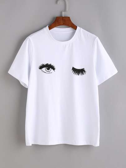 Eye T-shirt imprimé - blanc