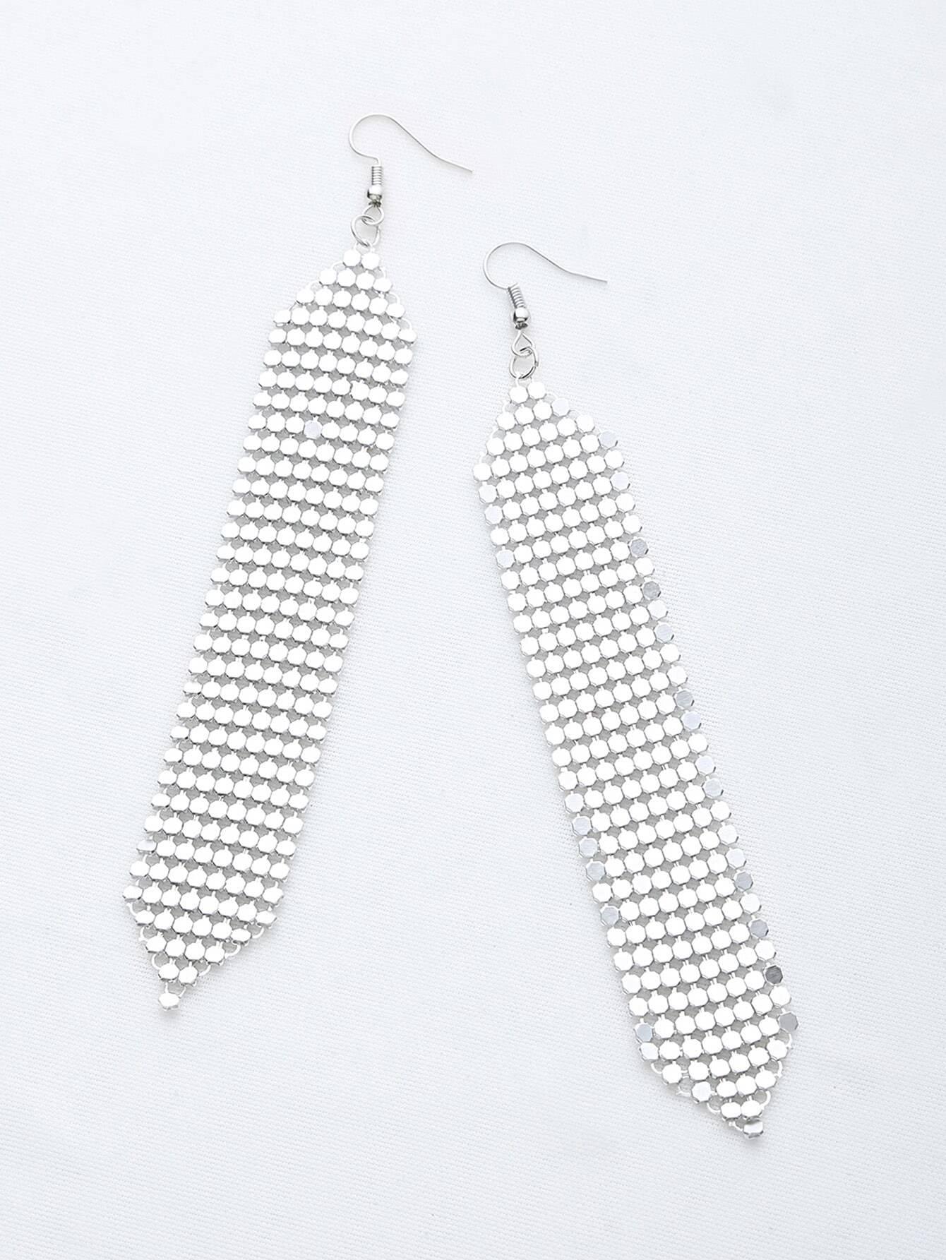 Фото Sequin Detail Drop Earrings. Купить с доставкой