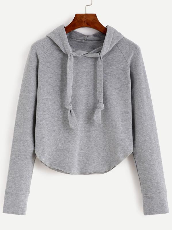 Raglan Sleeve Hooded Sweatshirt, null