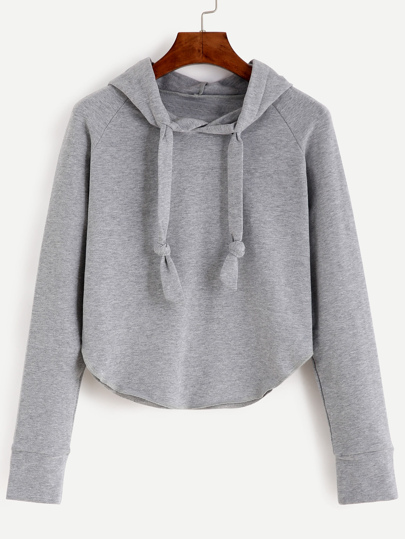 Raglan Sleeve Hooded Sweatshirt