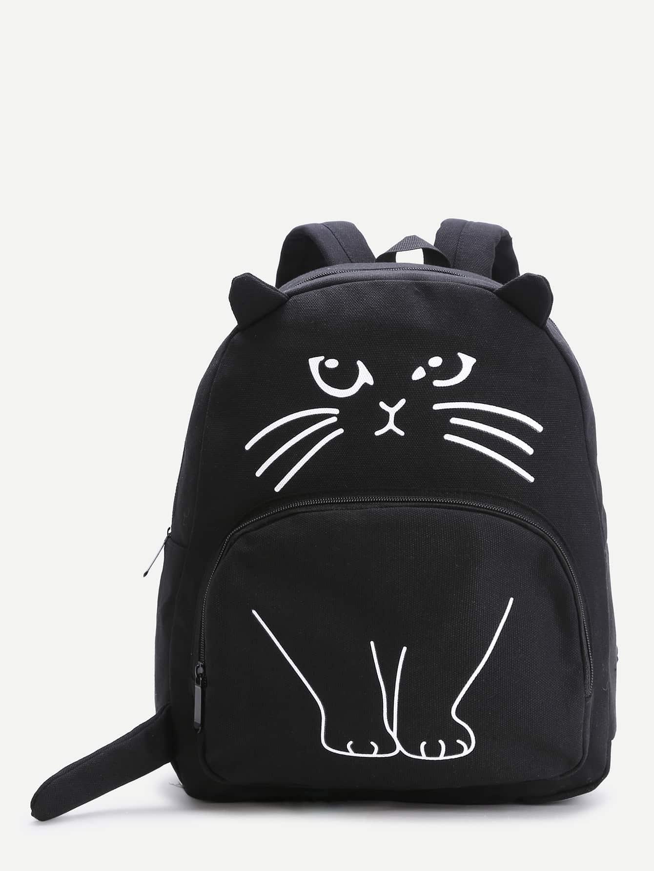 Фото Black Cat Pattern Cute Backpack. Купить с доставкой