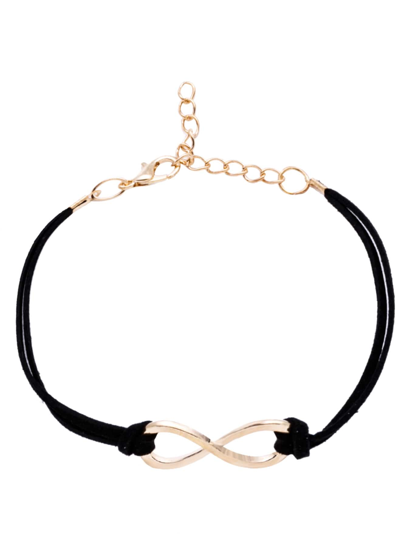 Фото Black Criss Cross Detail Bracelet. Купить с доставкой