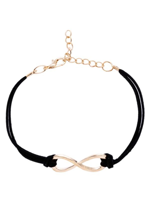 Black Criss Cross Detail Bracelet, null