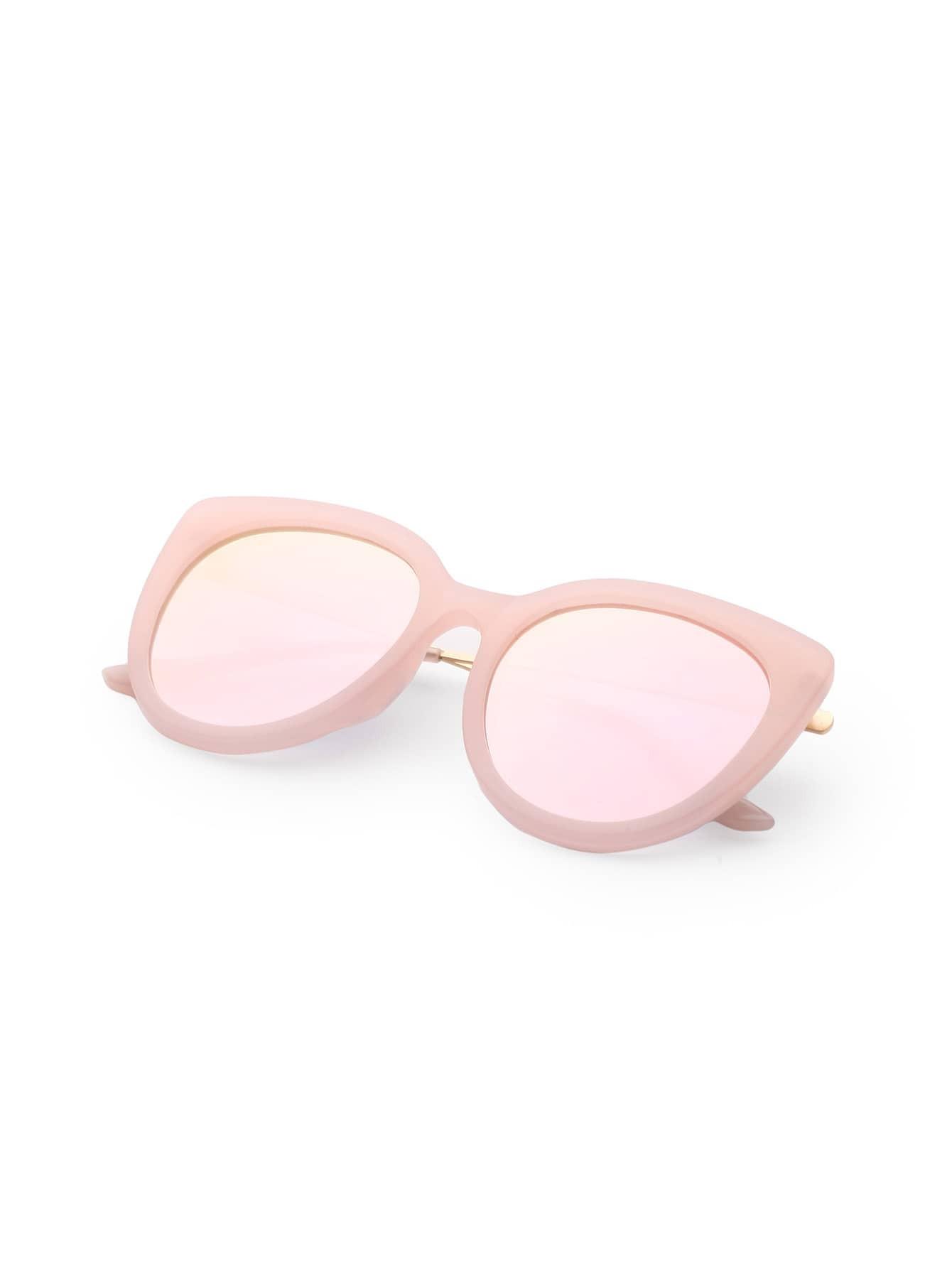rosa objektiv katze auge sonnenbrille german shein sheinside. Black Bedroom Furniture Sets. Home Design Ideas