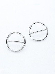 Circle Exaggerated Studded Earrings