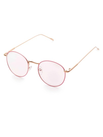 Pink Frame Clear Lens Glasses