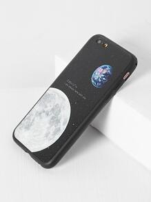 Black Moon Pattern iPhone 6/6s Case