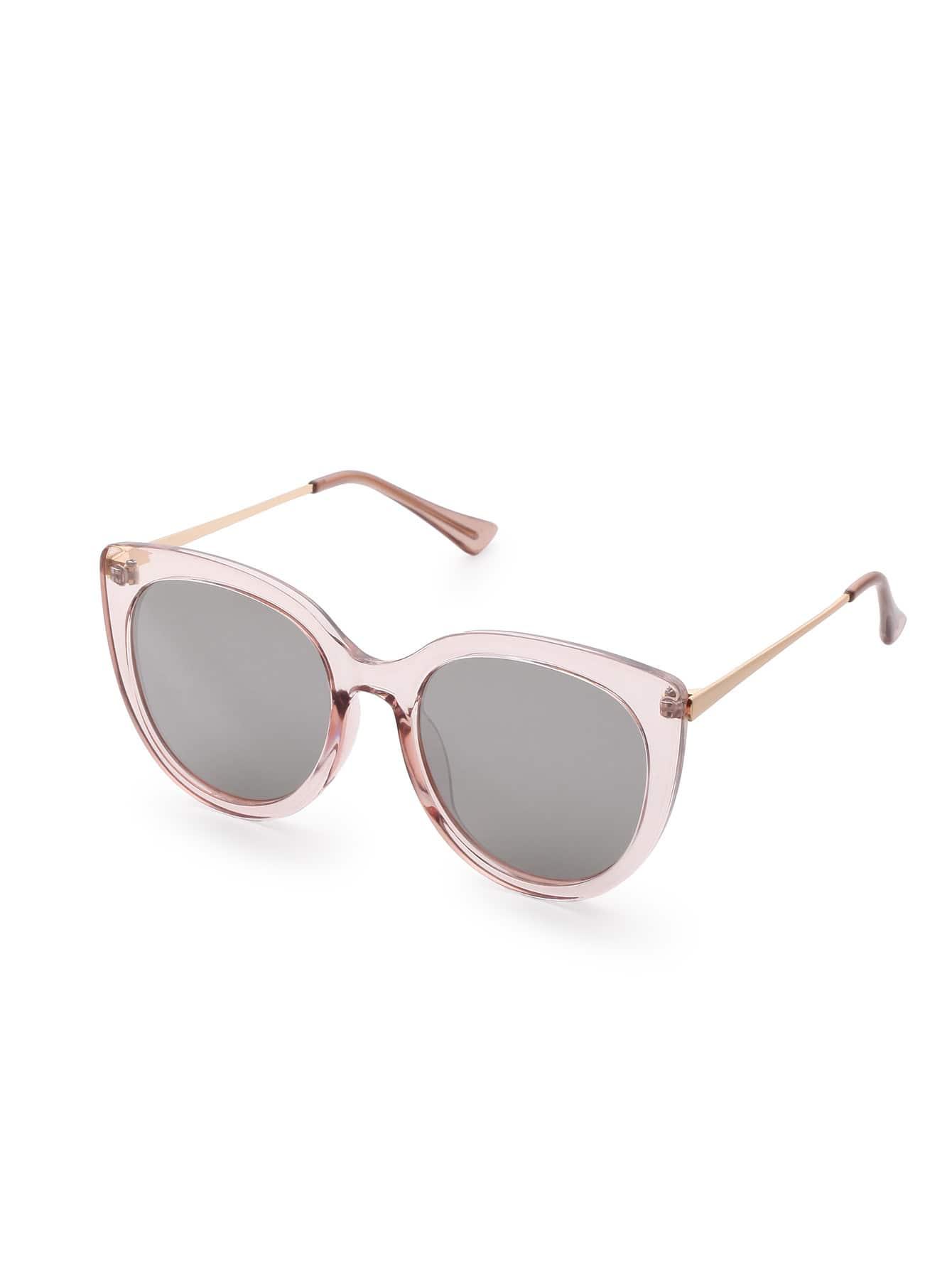 Pink Frame Grey Lens Cat Eye Sunglasses sunglass170324304