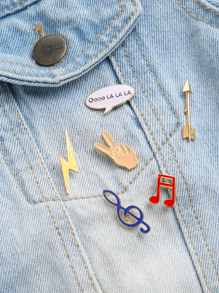 multicolor note musicale broche fixée