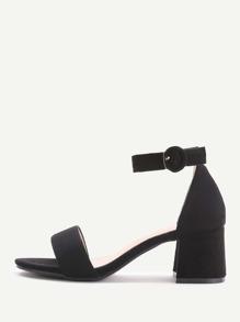 Sandalias de tacón de bloqueo - negro