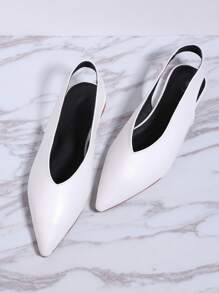 Pointe Toe Sling Back Flats